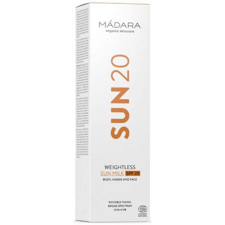 Mádara Weightless Sun Milk SPF20